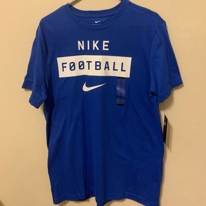 Nike football blue shirt